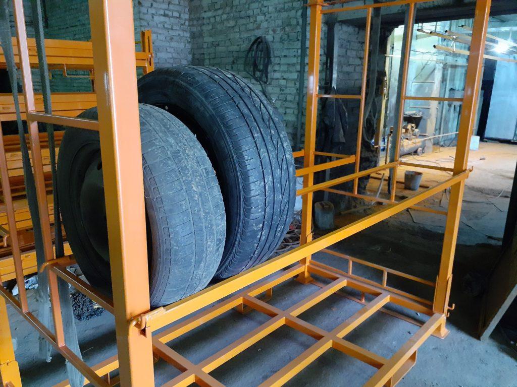 Система для хранения шин из металла